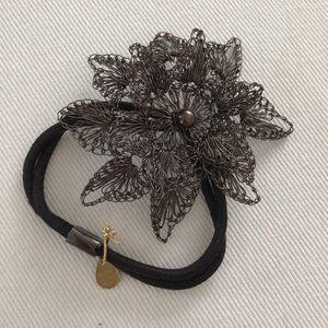 Colette Malouf Flower Mesh Hair Elastic